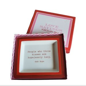 Twos Company | Love Sayings Porcelain Tray
